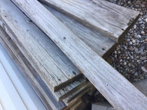 reclaimed redwood planks