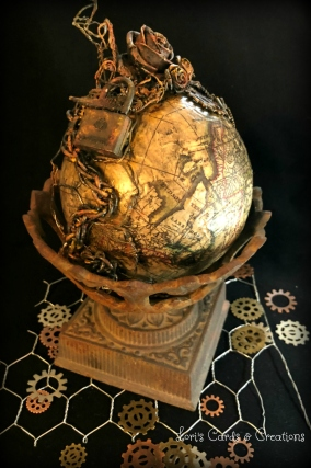 Mixed Media Steampunk Globe v.2 3.29.2018