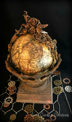 Mixed Media Steampunk Globe 3.29.2018