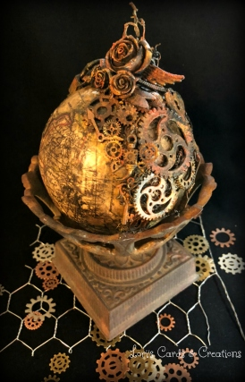 Mixed Media Steampunk Globe v.3 3.29.2018