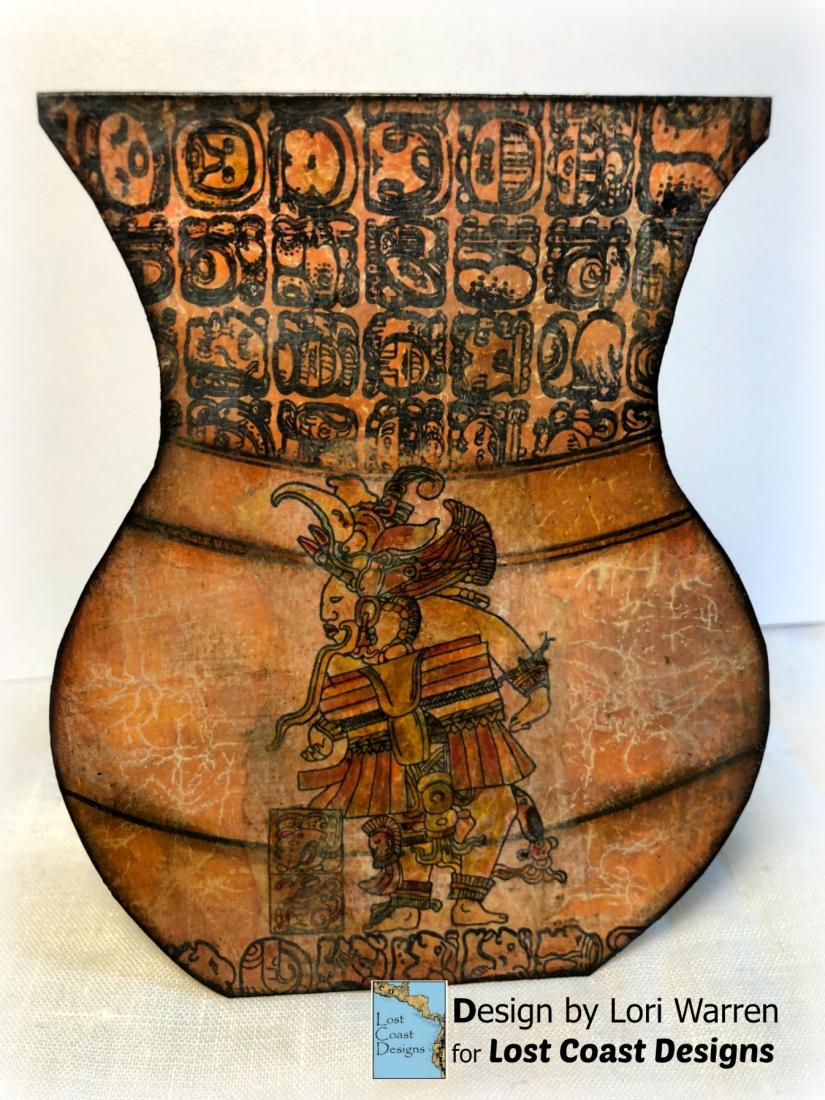 Mayan Blog hop Vase w logo
