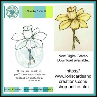Sketchy Daffodil promo