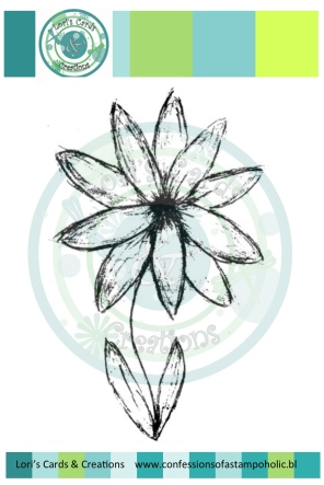 Sketchy Flower digi shop image file