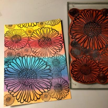2 stamp Doodleflowers