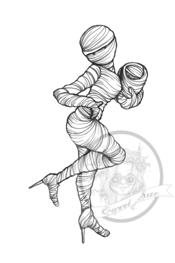 Mummy pinup wm