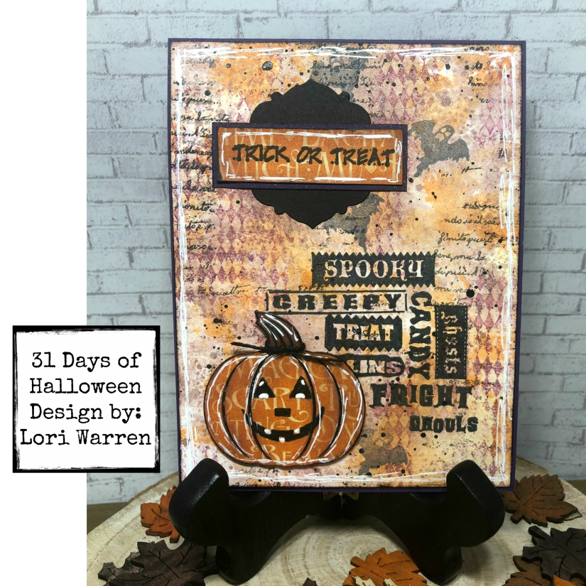 Day 13 Trick or Treat Grunge card wm
