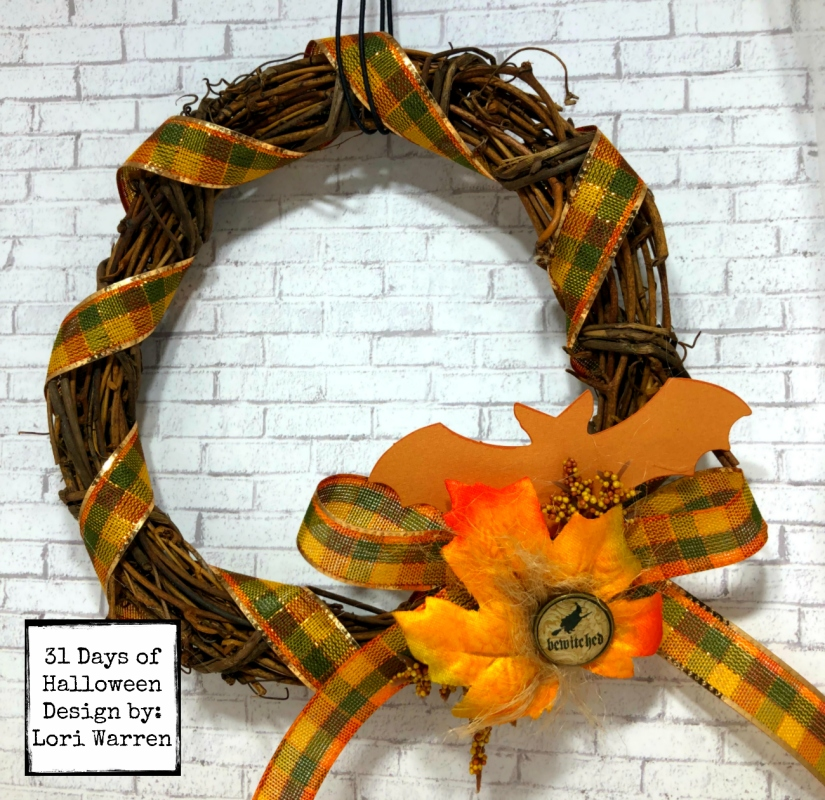 Day 9 Miniature Halloween wreath wm