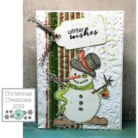 Digi Snowman 2 - winter wishes wm