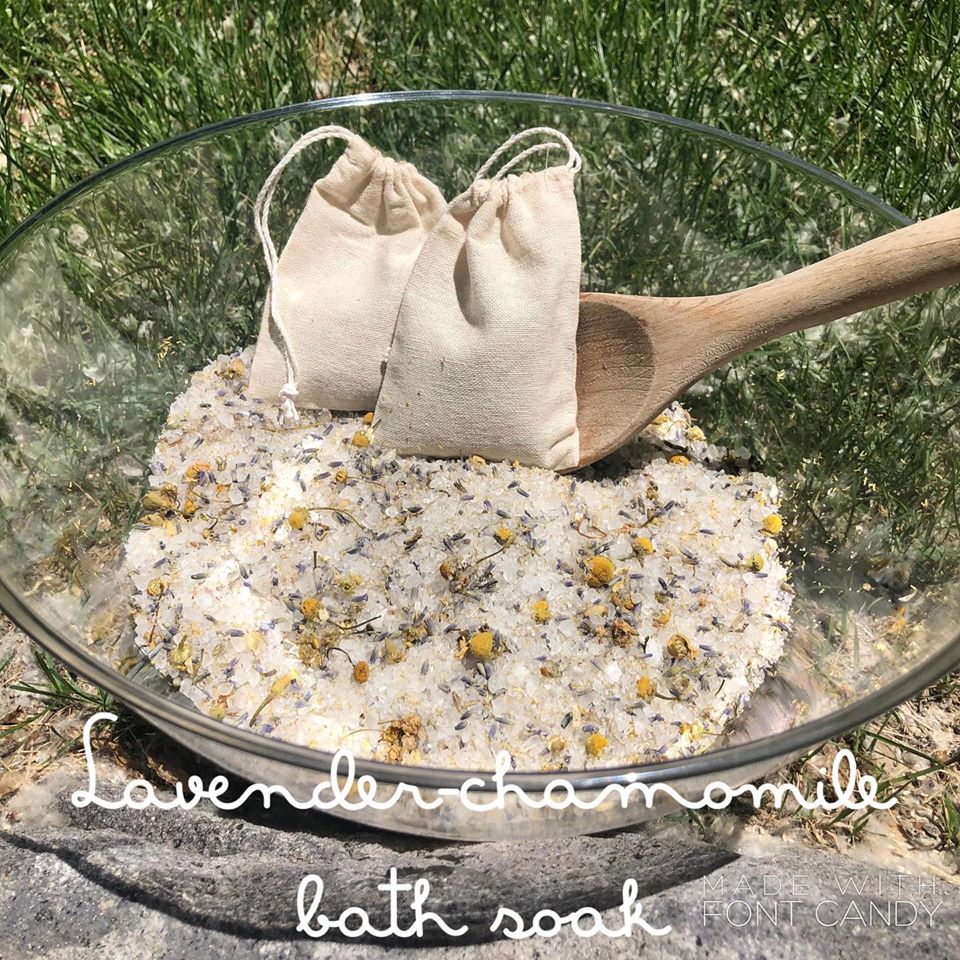 Lavender.chamomile bath soak