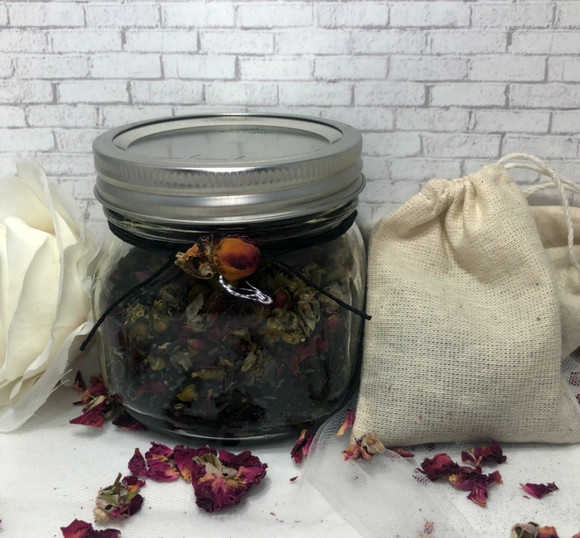 Midnight Lavender Rose chamomile bath salts